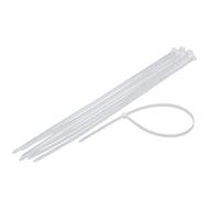 """11""""白色电缆/拉链扎带- 100 ct."""