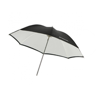 """Westcott 32""""雨伞——白色缎子/黑色"""