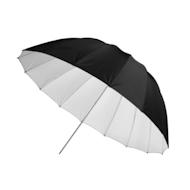 """韦斯科特45""""伞——白色缎子"""