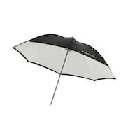 """Westcott 32"""" Umbrella - White Satin/ Black"""