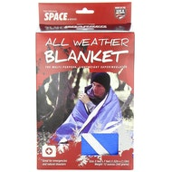 All Weather Space Blanket: Blue