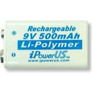9V Lithium-Ion Rechargeable Battery - Single