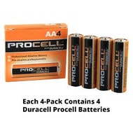 AA Duracell Procell Batteries - 4 Pack