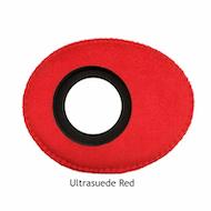 Oval Large Microfiber Eyecushion - Red