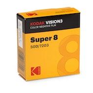 Kodak VISION3 50D Color Negative Film #7203 - Super 8mm x 50' Roll