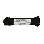 "#8 Black Sash Cord - 100 ft. hank (1/4"")"