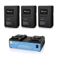 V-Mount (3) 98WH Batteries and Charger