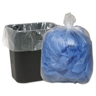 Clear Trash Can Liner, 1.75mil, 60gal 10 bags