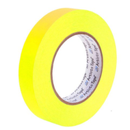 "1"" Fluorescent Yellow Paper Tape"