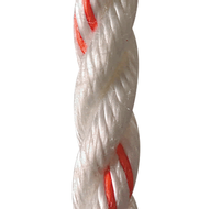 "Multistrand - 3/8"" White w/ Orange Tracer 600ft Spool"