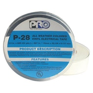 P-28 White Electrical Tape