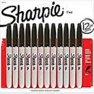 Sharpie Fine-Point Black - 12 Pack